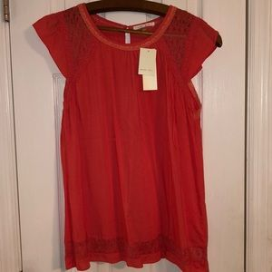 NWT Boutique coral colored blouse